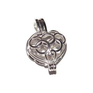Jewelry - Pearl Cage Necklace Stainless Steel Chain